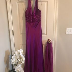 Adrianna Papell Purple Formal Dress